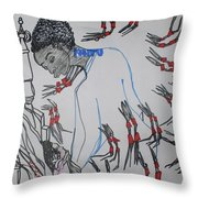 Kintu And Nambi  Folktale Throw Pillow
