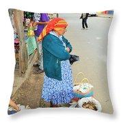 Los Lencas Throw Pillow
