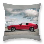 72 Mustang Throw Pillow