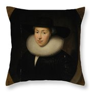 Portrait Of A Lady Throw Pillow