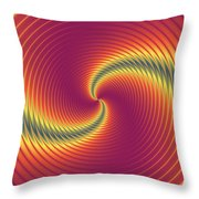Psycho Hypno Floral Pattern Throw Pillow