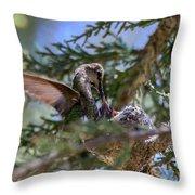 7311 Tilted Nest Feeding Throw Pillow