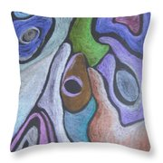 #758 Abstract Drawing Throw Pillow