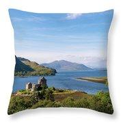 76. Eilean Donan Castle, Scotland Throw Pillow