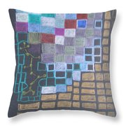 #767 Absttract Drawing Throw Pillow