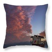 7826- Miami Beach Sunrise Throw Pillow