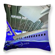 787 Tail Section Throw Pillow