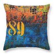 789 Street Blues Throw Pillow