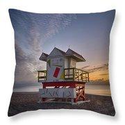7898- Miami Beach Sunrise Throw Pillow