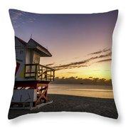 7901- Miami Beach Sunrise Throw Pillow