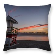 7935- Miami Beach Sunrise 14x25 Throw Pillow