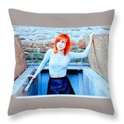 79361 Hayley Williams Paramore Women Singer Redhead Throw Pillow