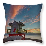 7944- Miami Beach Sunrise Throw Pillow