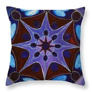 7th Mandala - Crown Chakra Throw Pillow