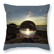 8-25-16--5717 Don't Drop The Crystal Ball, Crystal Ball Photography Throw Pillow