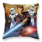 A Star Wars Poster Throw Pillow
