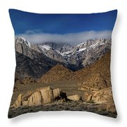 Alabama Hills, Ca Throw Pillow