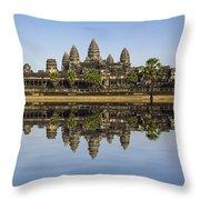 Angkor Wat Throw Pillow by MotHaiBaPhoto Prints