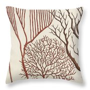 Aquatic Animals - Seafood - Algae - Seaplants - Coral Throw Pillow