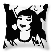 Art Deco Image Throw Pillow