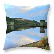 Autumn Derwent Reservoir Derbyshire Peak District Throw Pillow