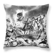 Battle Of New Orleans Throw Pillow