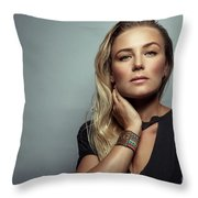 Beautiful Woman Portrait Throw Pillow