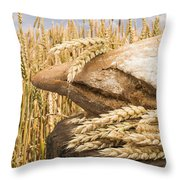 Bread And Wheat Cereal Crops. Throw Pillow by Deyan Georgiev