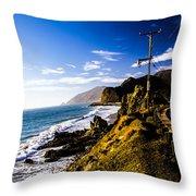 Ca Beach Throw Pillow