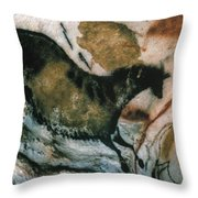 Cave Art: Lascaux Throw Pillow