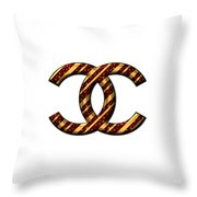 Chanel Style Png Throw Pillow