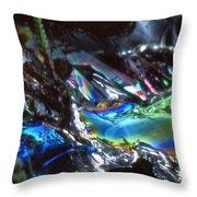 8. Close-up Ice Prismatics, Slaley Sand Quarry Throw Pillow