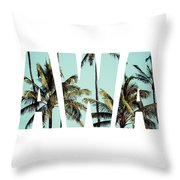 Coconut Palm In Hawaii, Usa. Throw Pillow