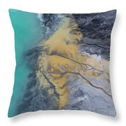Degraded Landscape In Poland. Destroyed Land. View From Above.  Throw Pillow