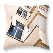 Derelict Building Throw Pillow