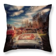 Derelict Transport Throw Pillow