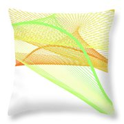 Dynamic And Bright Linear Spiral With Colorful Gradient Throw Pillow