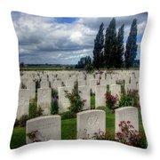 Flanders Fields Belgium Throw Pillow
