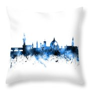 Florence Italy Skyline Throw Pillow