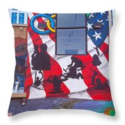 Freak Alley Boise Throw Pillow