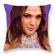 Gal Gadot Art Throw Pillow