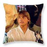 Galaxies Star Wars Poster Throw Pillow