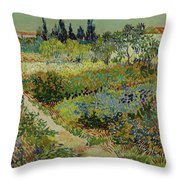 Garden At Arles Throw Pillow