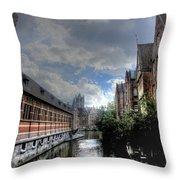 Ghent Belgium Throw Pillow