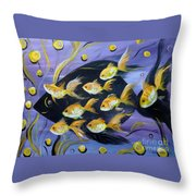 8 Gold Fish Throw Pillow