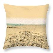 Gordon Beach, Tel Aviv, Israel Throw Pillow