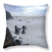 Hartland Quay - England Throw Pillow