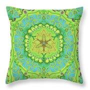 Indian Fabric Pattern Throw Pillow