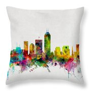 Indianapolis Indiana Skyline Throw Pillow