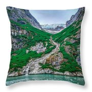 Inside Passage Mountain Views Around Ketchikan Alaska Throw Pillow